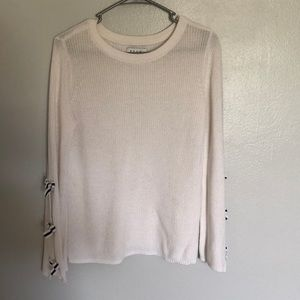 Worn once comfy white knit sweater